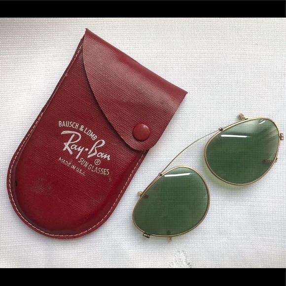 9cd36994bd New Vintage Ray Ban B L Cat Eye Clip On Sunglasses